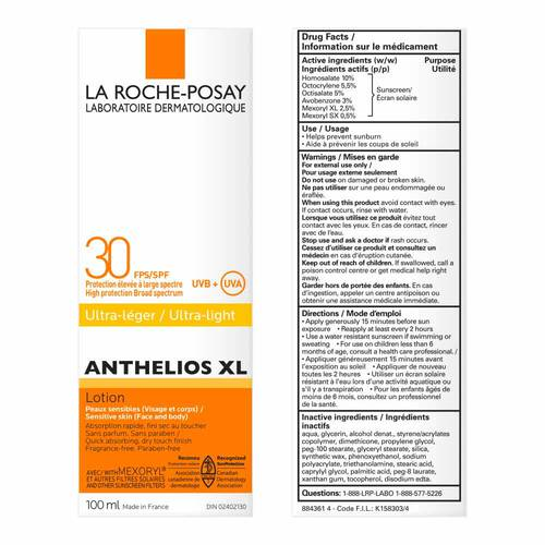 ANTHELIOS XL LOTION  SPF30