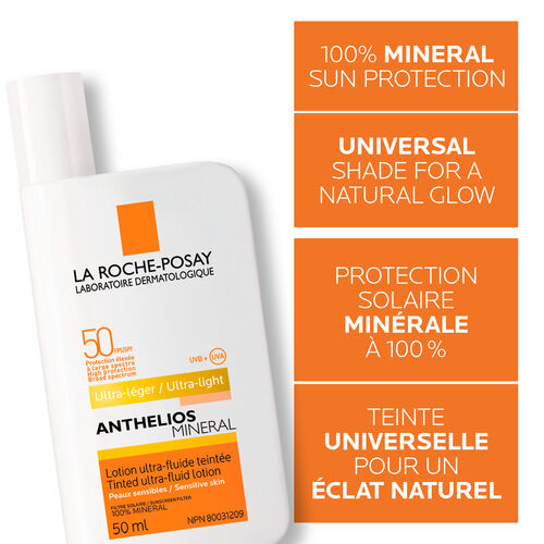 Anthelios MINERAL Tinted ultra-fluid lotion SPF 50