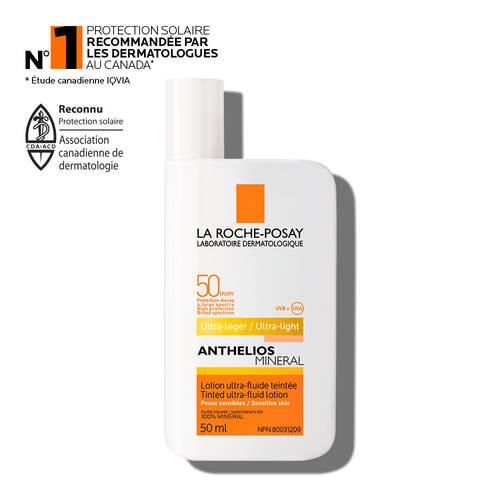 Anthelios MINERAL Lotion ultra-fluide teintée FPS 50 pour visage
