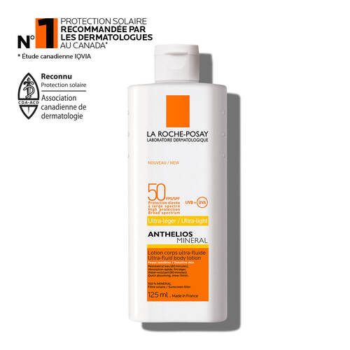 ANTHELIOS MINERAL LOTION ULTRA-FLUIDE FPS 50 POUR CORPS