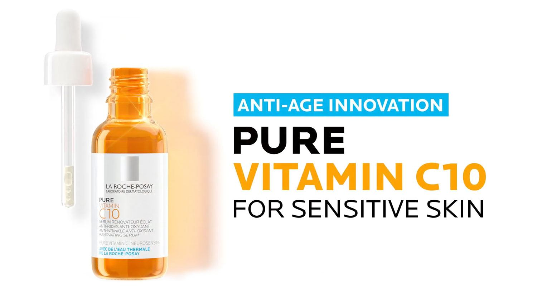 Pure vitamin C10 for sensitive skin