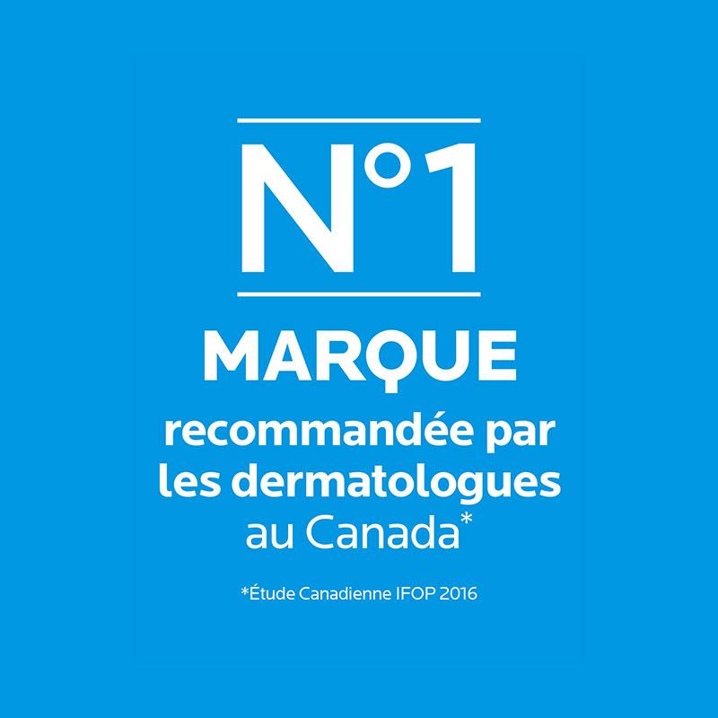 no 1 marque recommandée par les dermatologues au Canada
