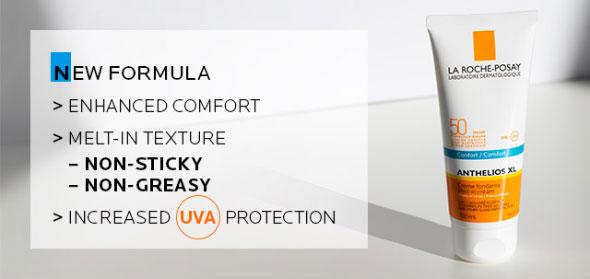 New formula - Enhanced comfort - Increased UVA protection