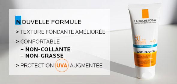 Anthelios XL - Nouvelle formule - Texture fondante améliorée - Protection UVA augmentée