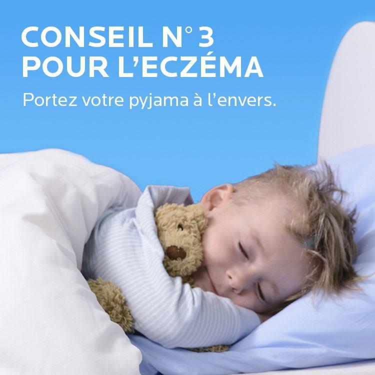 Conseil Eczema. Portez votre pyjama à l'envers